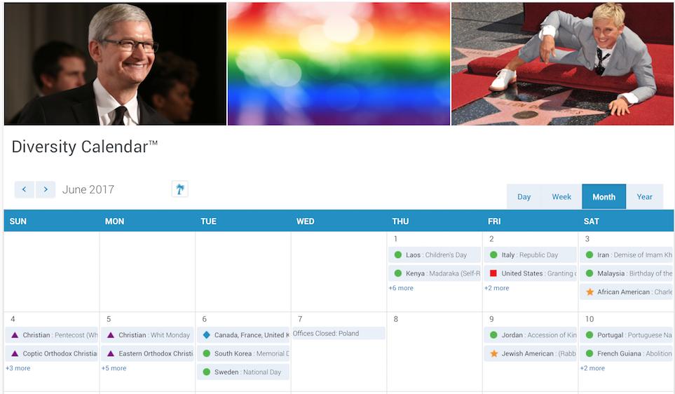 June 2017 Diversity Calendar